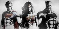 Superman, Wonder Woman, and Batman.