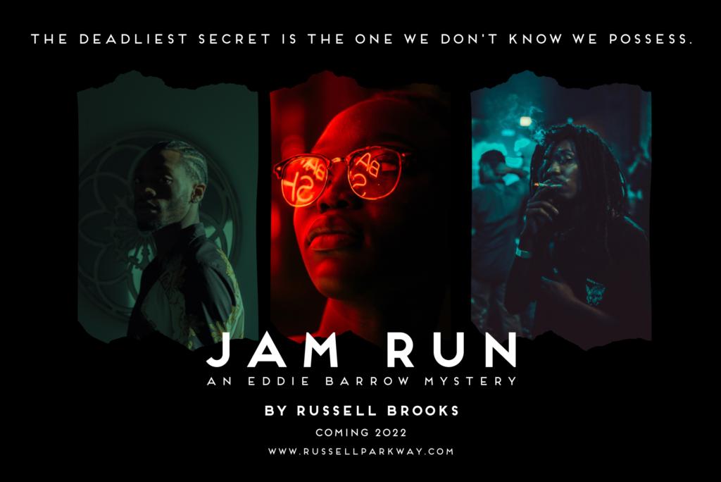 Jam Run, Russell Brooks, murder mystery book